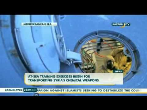 At-sea training exercises begin for transporting Syria's chemical weapons