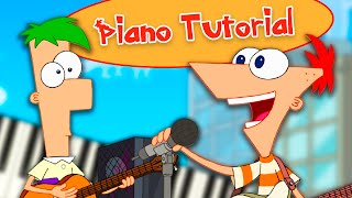 Phineas and Ferb Theme Song (Full Version) - Piano Tutorial видео