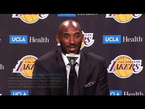 Kobe Bryant LIVE Jersey Retirement Press Conference