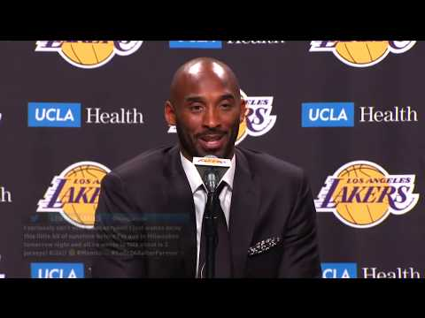 Kobe Bryant Jersey Retirement Press Conference
