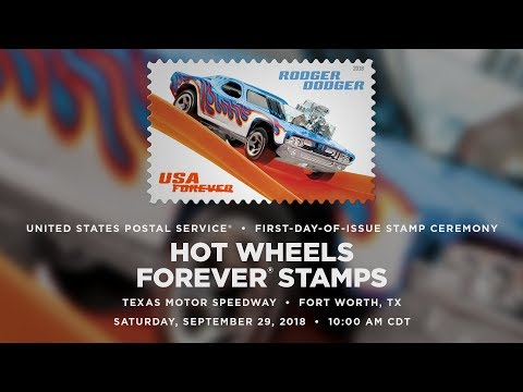 USPS Hot Wheels Forever® Stamps - YouTube