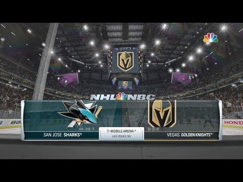 NHL 18 Preseason Hockey: San Jose Sharks vs Las Vegas Golden Knights
