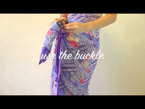 How To Use A Sarong Ring