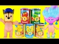 TMNT Paw Patrol Troll Baby Dolls Learn to Count from 1 to 5 with Counting Cans! Fun Learning Video!