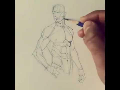 ferhat edizkan art tarafından mükemmel anatomi çizim