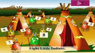 Ten Little Indians Nursery Rhymes & Children Songs with Lyrics