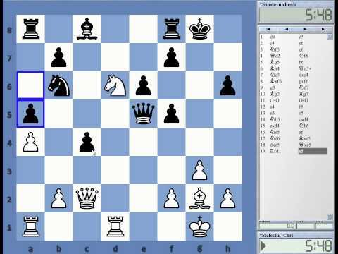 CE playing Mallorca Open Rd 4 C Sielecki vs GM Y Solodovnichenko Elo 2574 Semi Slav