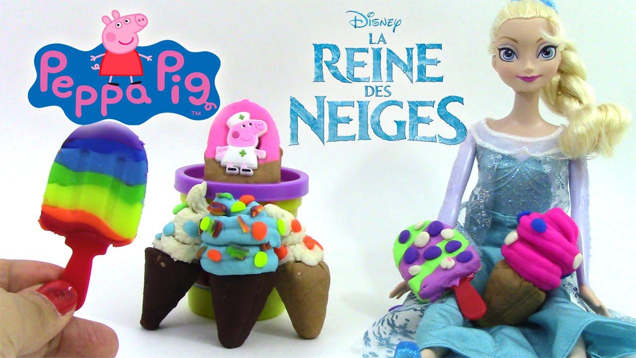 Pâte à Modeler Glace Crèmes Glacées Reine Des Neiges Elsa Peppa Pig