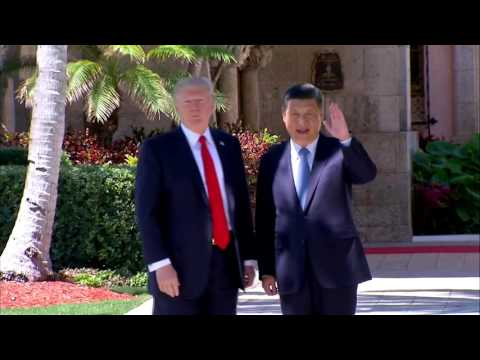 WATCH: President Trump And Chinese President Xi Jinping Tour Mar-a-Lago Grounds (FNN)