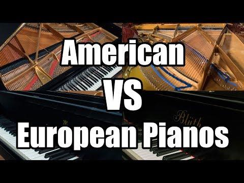 American VS European Pianos