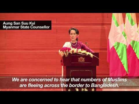 Myanmar's Aung San Suu Kyi addresses Rohingya crisis