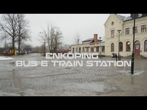 Enköping bus & train station | Time lapse