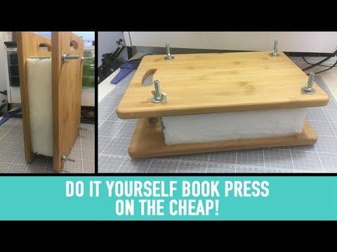 Diy book press on the cheap youtube diy book press on the cheap solutioingenieria Choice Image