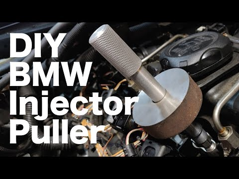 Making a DIY e90 n54 BMW Fuel Injector Puller Removal Tool on the Mini Lathe