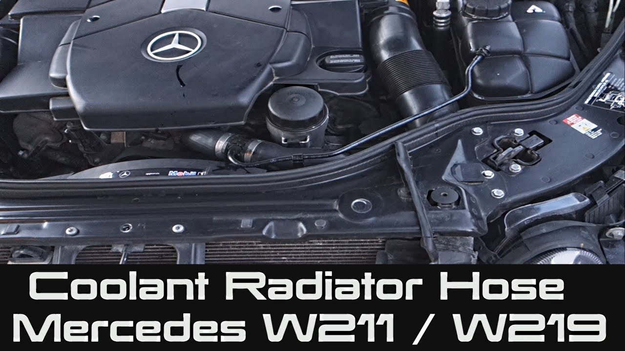 how to change coolant radiator hose for mercedes w211 w219 e class cls class youtube [ 2559 x 1439 Pixel ]