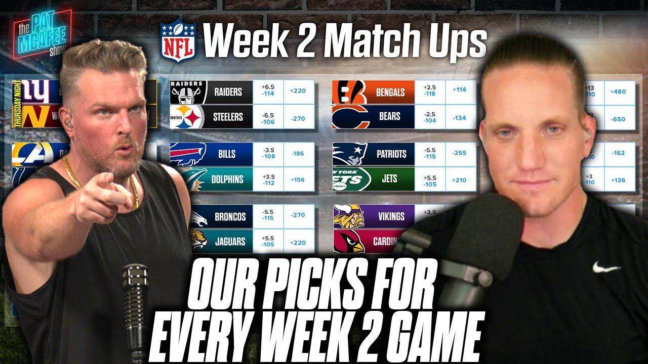 Pat McAfee u0026 AJ Hawk Pick EVERY GAME For NFL Week 2