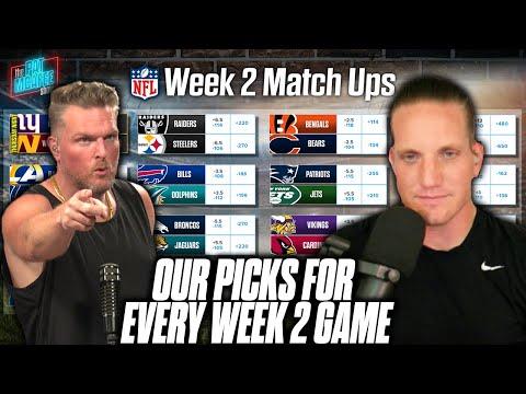 Pat McAfee & AJ Hawk Pick EVERY GAME For NFL Week 2