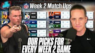 Pat McAfee \u0026 AJ Hawk Pick EVERY GAME For NFL Week 2