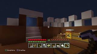 Minecraft | Making my gingerbread house PART 1
