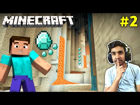 CAN I FIND DIAMONDS IN SECRET CAVES | MINECRAFT GAMEPLAY #2