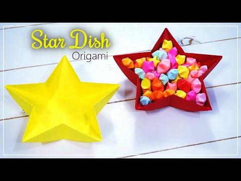 DIY Paper Star Dish / Easy Origami Star Bowl :: 종이로 별모양 접시접기 / 만들기 쉬운 별모양 그릇