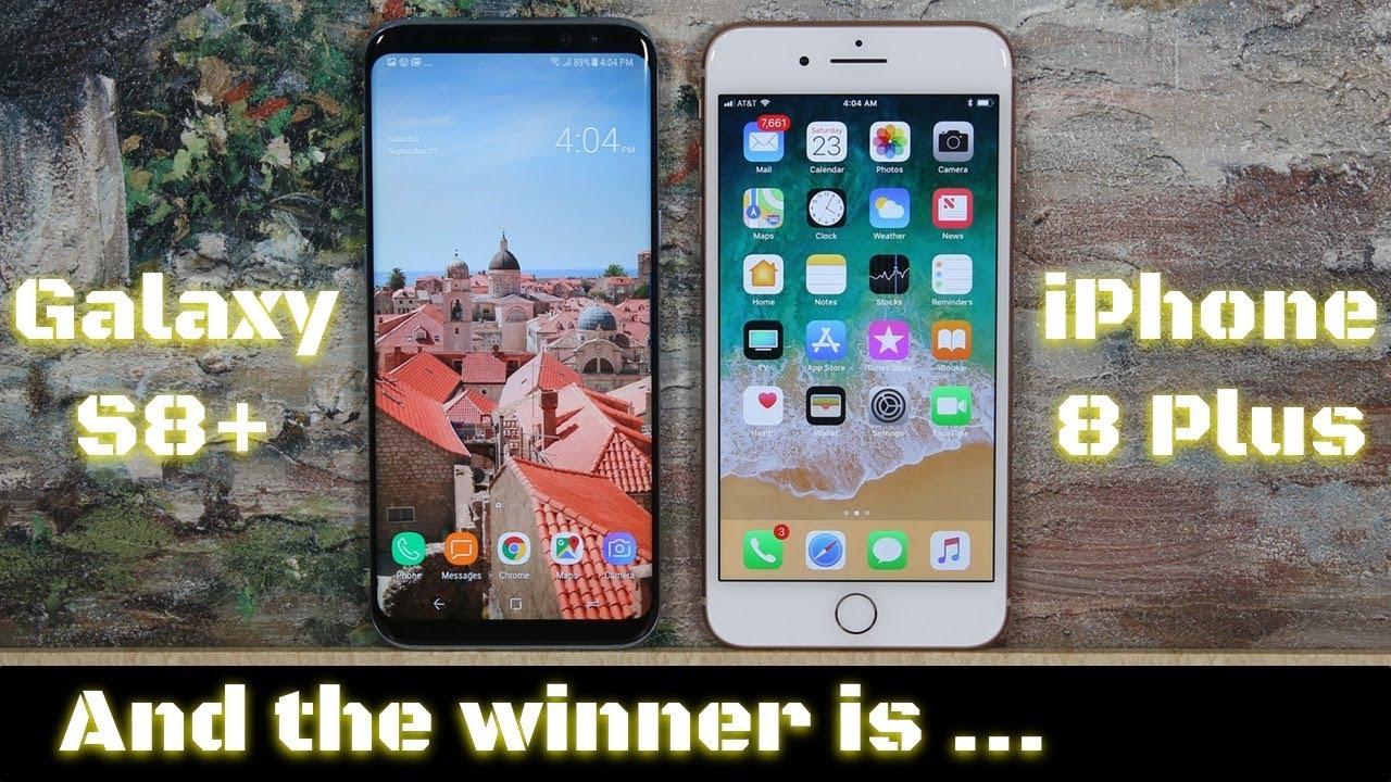 IPHONE 8 PLUS VS GALAXY S8 PLUS