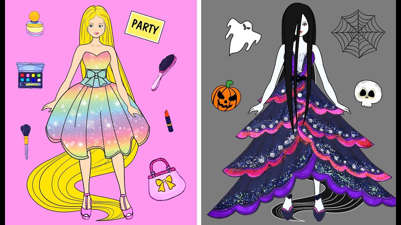[DIY] Paper Dolls Rapunzel & Sadako Win on Dress's Contest! Beautiful Dresses Handmade Papercrafts