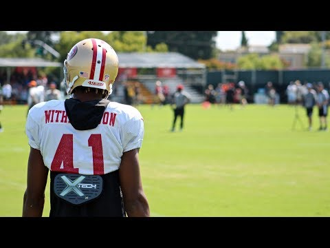 Catching up with Ahkello Witherspoon at 49ers' camp