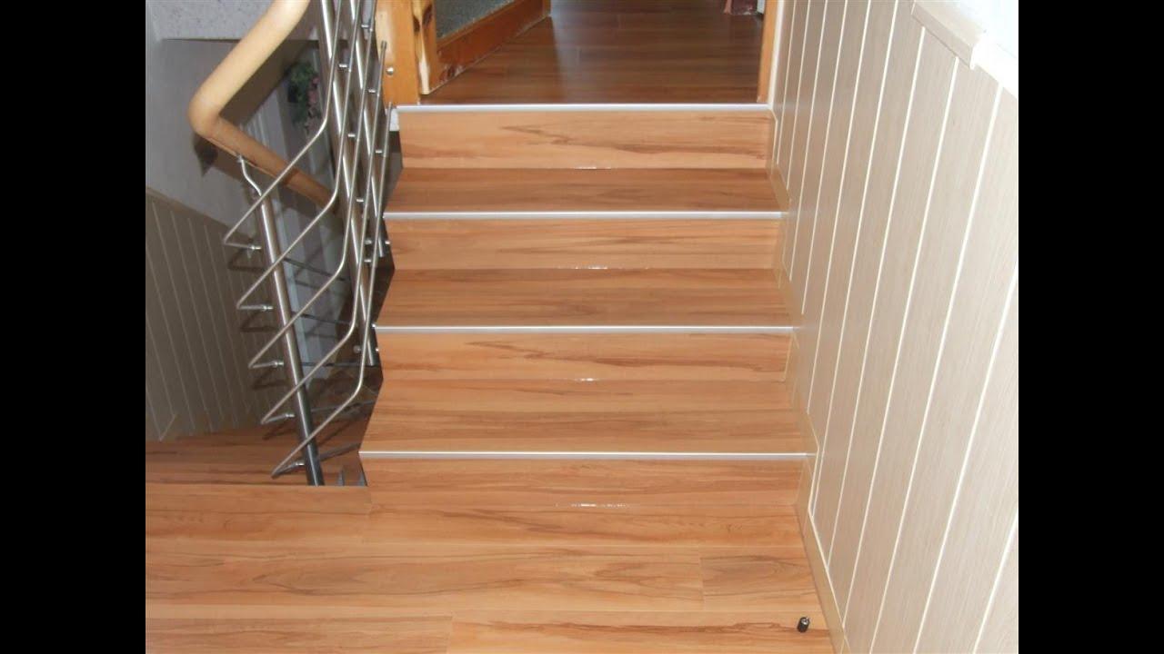 Lepení lina na schody
