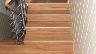 Jak se dělají schody z vinylové podlahy DESIGNline - Podlahářství Jiří Moták