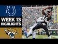 Colts vs. Jaguars | NFL Week 13 Game Highlights