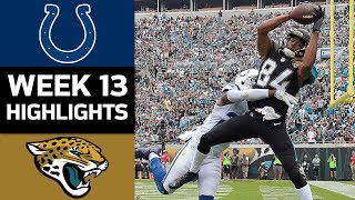 Colts vs. Jaguars | NFL Week 13 Game Highlights