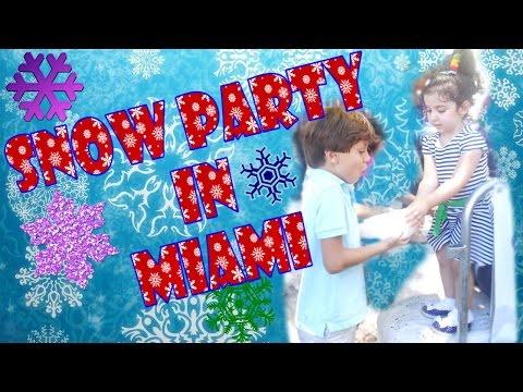 СНЕГ ЛЕТОМ В МАЙАМИ!! ШОК!+ праздник детям. Snow in the summer in Miami! SHOCK! + holiday for kids