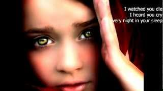 """Kelly Clarkson - Because of You (""""Because of You"""" lyrics on screen)"""