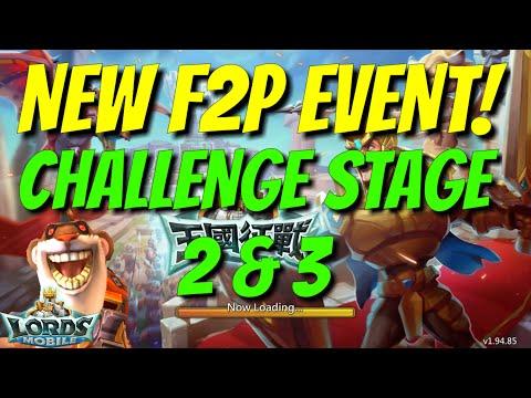 F2P Hero Event Challenge 2 & 3 Walkthrough - Lords Mobile