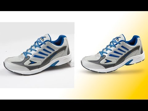 How to retouch sport shoes