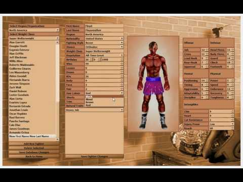 World Boxing Manager Modding Demonstration