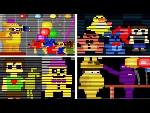 Five Nights at Freddy's 4 ALL MINIGAMES | FNAF 4 All Mini Games