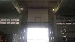 видео купить промышленные секционные ворота