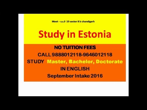 study in Estonia - no tution fee -call 9888012118