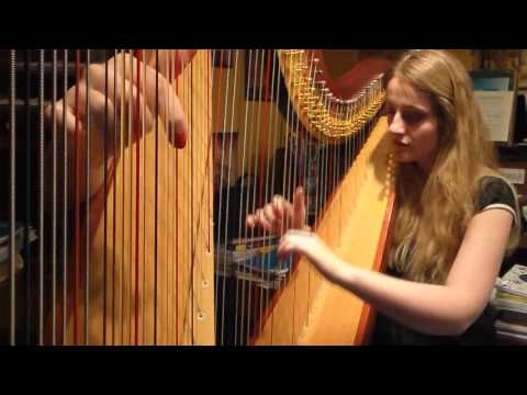 The Avengers Main Theme (Harp Cover)