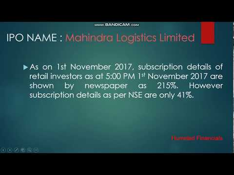 Mahindra Logistics Ltd. : What is the actual subscription by retail investors at the end of day 2?