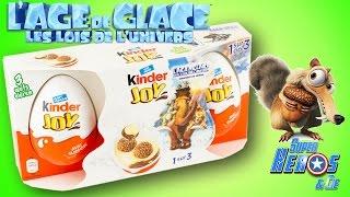 Kinder Joy Boite 3 Oeufs Surprise Age de Glace Scrat Jouet Toy Unboxing
