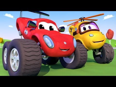 Monster Truck Town Mia The Monster Copter S Accident In The Well Monster Trucks Cartoon For Kids Youtube