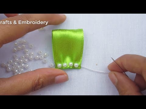 Hand Embroidery Amazing Ribbon Flower, Super Easy Ribbon Flower Making Tutorial, Ribbon Embroidery