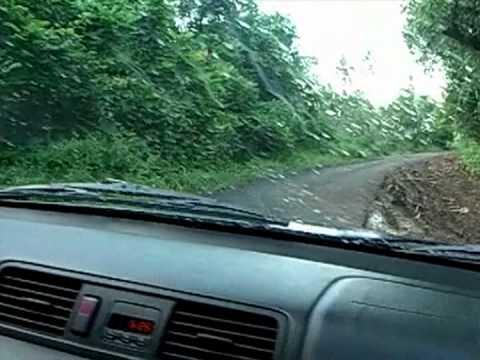 Driving to Kolonia, Pohnpei, Micronesia