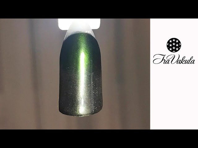 Mirror Nail Glitter Chrome Gradient Green Color Nail Powder Pigment Nail Art #Ira Vakula