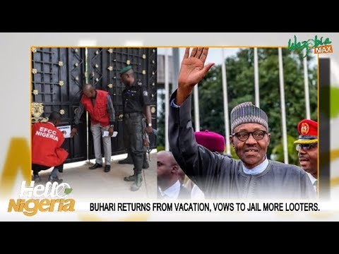 Buhari Returns From London Vows To Jail More Looters
