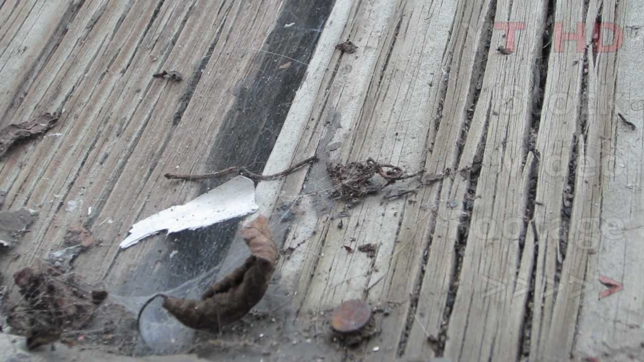Old Wood Deck End Planks W Rusty Nails Amp Webs Needing