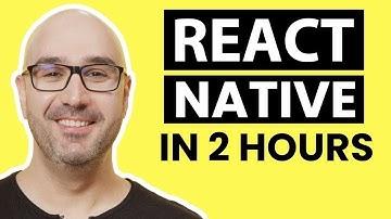 React Native Tutorial for Beginners - Build a React Native App [2020]